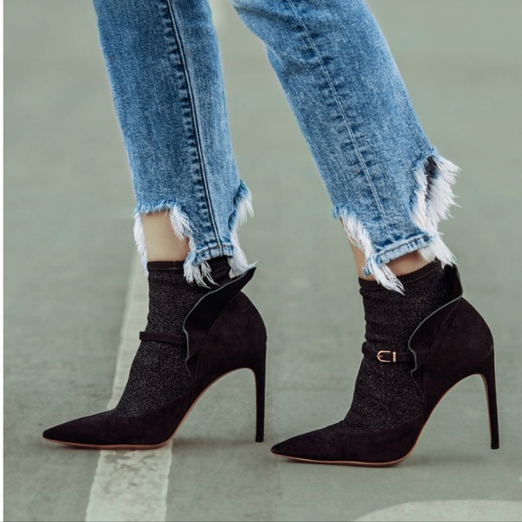 d957ab4d116e Sophia Webster Lucia Suede Ankle Sock Booties